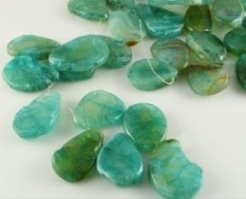 Agaat hanger turquoise/zeegroen groot