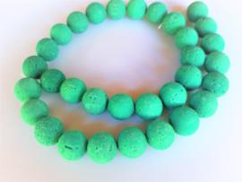 Lava ronde kraal groen 12-12.2 mm