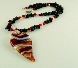 "Ketting ""Glass Murano"""