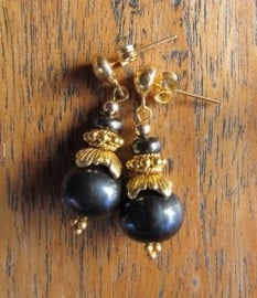 """Oorbellen """"Black Pearl"""""""