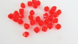 Rood bicone glaskraaltje 4.2 mm