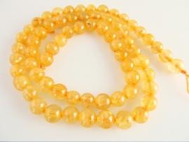 Rutielkwarts goud ronde kraal 6-6.5 mm