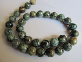 Afrikaans turquoise kraal rond 12-12.5 mm