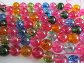 Bergkristal gekleurd crackle 10-10.5 mm