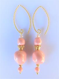 """Oorbellen """"Pink Coral Baroque"""""""