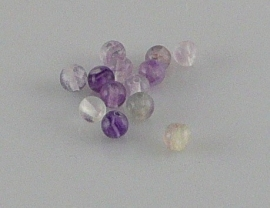 Fluoriet kraal rond 4 mm