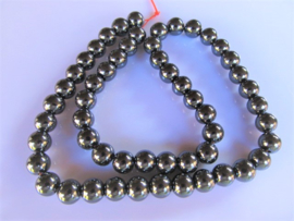 Hematiet ronde kraal 8 mm