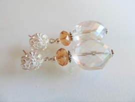 "Oorbellen ""Abricot Crystal"""