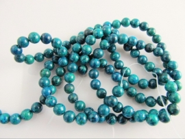 Chinese chrysocolla kraal rond 6-6.5 mm