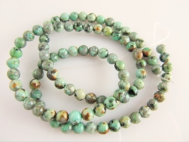 Afrikaans Turquoise rond 4-4.2 mm