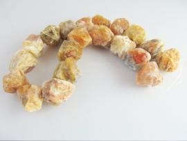 Gele opaal ruwe brok kraal 18-22 mm