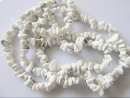 Howliet split kraal wit-grijs 6-10 mm