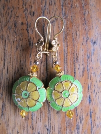 "Oorbellen ""Yellow & Green"""