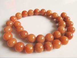Aventurijn oranje-bruin ronde kraal 12-12.5 mm