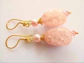 """Oorbellen """"Rosaline Pink"""""""
