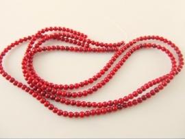 Koraal ronde kraal rood 3-3.5 mm