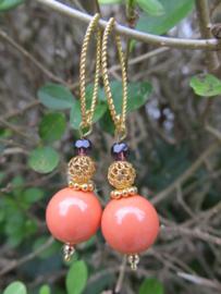"Oorbellen ""Coral Purple"""