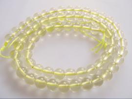 Lemonkwarts ronde kraal 6.5 mm