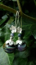 "Oorbellen ""Dutch Flower Glass"""