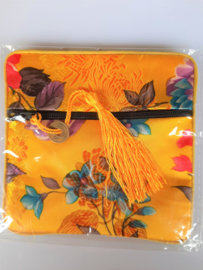 Tasje chinese zijde met rits 11.5x11.5 cm