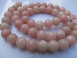 Opaal roze ronde kraal 8-8.2 mm