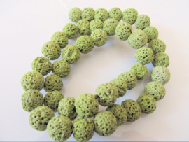 Lava kraal groen gekneusd 9-10 mm