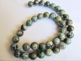 Afrikaans turquoise ronde kraal 10.5-10.7 mm