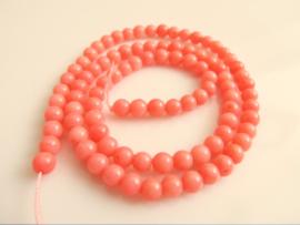 Koraal roze kraal rond 4mm