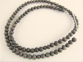 Lava zwart ronde kraal 4.7-4.8 mm