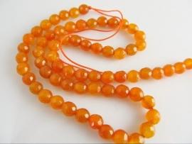 Oranje Jade facet kraal rond 6 mm