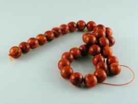 Sponskoraal kraal oranje rond 12 mm