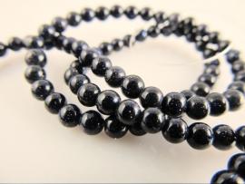 Goudsteen blauw ronde kraal 4-4.5 mm