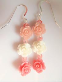 """Oorbellen """"Coral Roses"""""""