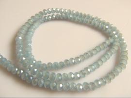 Kristalglas kraal facet rondel grijs 3x4.2 mm