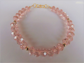 "Armband ""Gold Pink Crystal"""
