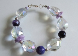 "Armband ""Purple Crystal"""