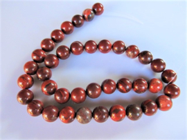 Jaspis rood ronde kraal 10 mm