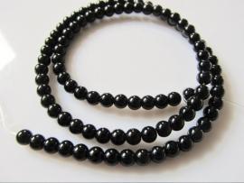 Obsidiaan rond-rondel zwarte kraal 4.5 mm