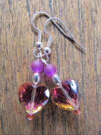 "Oorbellen ""Coloured Heart"""