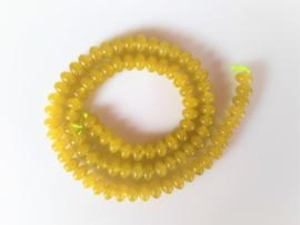 Jade rondel kraal lemon circa 4.2-4.5x6.5-6.8 mm