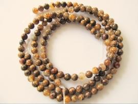 Kwarts amphiboliet bruin ronde kraal 6-6.5 mm