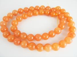 Aventurijn oranje ronde kraal gekneusd 8 mm