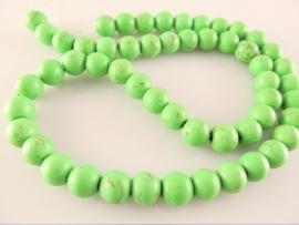 Howliet ronde kraal groen 8 mm