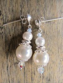 """Oorbellen """"White Shell Pearl"""""""