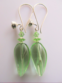 "Oorbellen ""Spring Green Glass"""