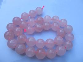 Rozekwarts ronde kraal 12-12.5 mm