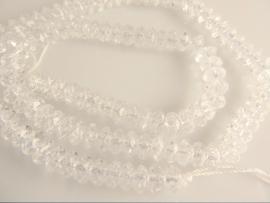 Bergkristal rondel facet kraal A-kwaliteit 4x6 mm
