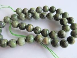 Opaal kraal groen rond 10 mm