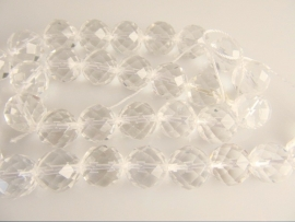 Bergkristal facet ronde kraal 12 mm A-kwaliteit