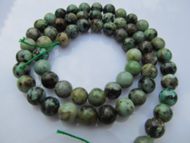 Turquoise afrikaans ronde kraal 6.5 mm